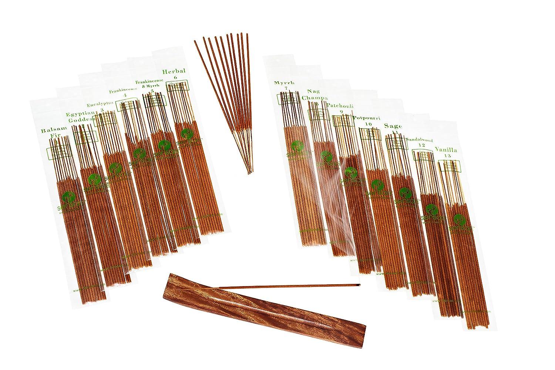 【超新作】 SENSARI HAND-DIPPED INCENSE & Sage, BURNER GIFT SET 12 Champa, - 120 Stick Variety, 12 Scent Assortment - Nag Champa, Sandalwood, Patchouli, Sage, Frankincense & More B015TF9X0I, カー用品のcarpy:0e1a9f8e --- arianechie.dominiotemporario.com