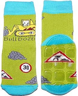 Weri Spezials Baby-Boys Terry ABS Bulldozer Slippers Anti Non Slip Socks