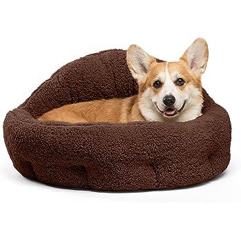 Amazon.com : Big Shrimpy Nest Faux Suede Dog Bed, Large