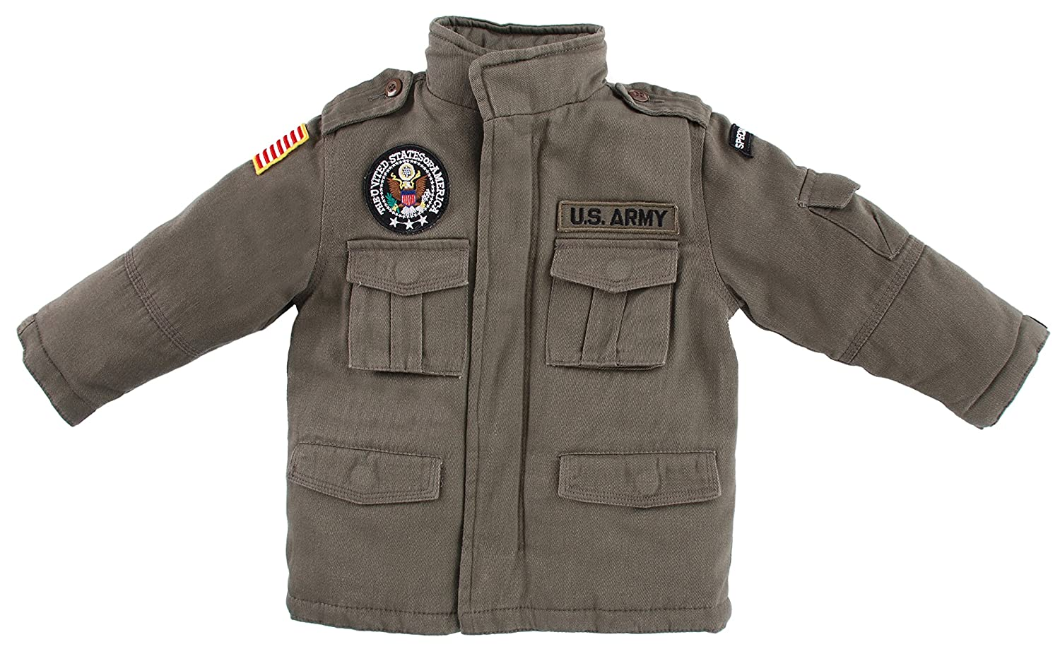 Up and Away Boys' Army Field Jacket
