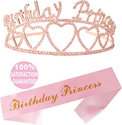 Birthday Sash Tiara 21st Happy Birthday Tiara Happy Birthday Party Supp Crown
