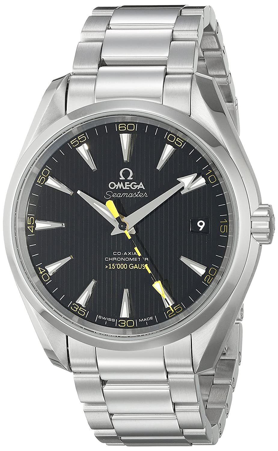 84a195de184 Amazon.com  Omega Men s 23110422101002 Seamaster150 Analog Display Swiss  Automatic Silver Watch  Watches