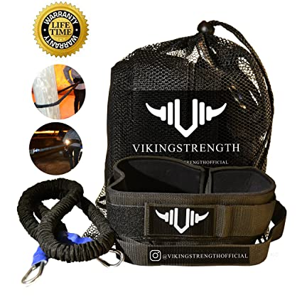Vikingstrength - 360° Resistance Running Training Bungee Band (Waist) &  Workout Guide Speed, Fitness Agility – Gym Equipment for Football,  Basketball,
