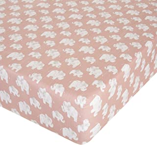 "product image for Glenna Jean Elephant Herd - Blush Crib Sheet Fitted 28""x52""x8"" Nursery Standard"