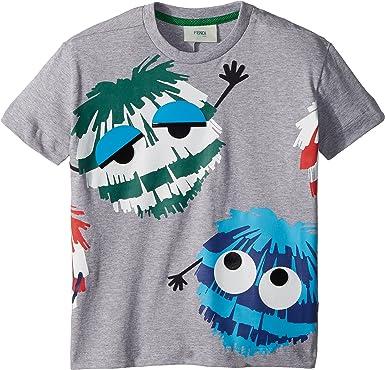 Amazon.com  Fendi Kids Mens Short Sleeve Logo Fur Monster Graphic T-Shirt  (Toddler)  Clothing 9d4c4d2dd39