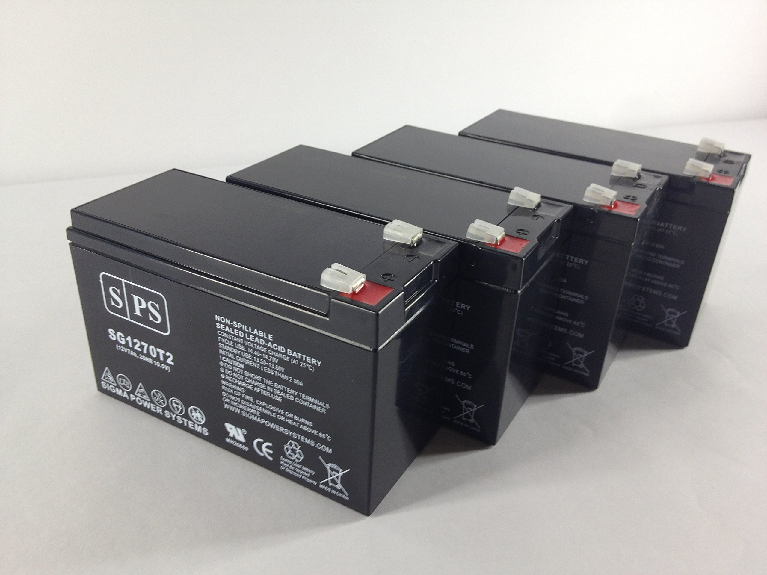 12V 7Ah (From SPS) APC BackUPS Professional PowerCell UPS Replacement Battery ( 4 Pack)