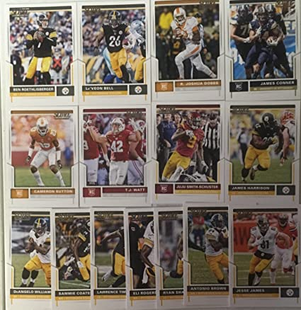 8629b12e84a 2017 Panini Score Football Pittsburg Steelers Team Set 15 Cards W/Rookies  at Amazon's Sports Collectibles Store