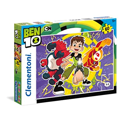 Clementoni Supercolor Puzzle - Ben 10 - 60 Pièces, 26978, Multi-Colour