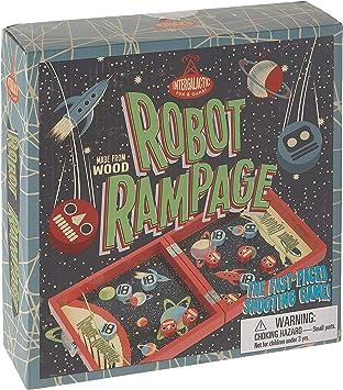 Professor Puzzle USA, Inc. Robot Rampage Mini Space Themed Pinball Maze Arcade Game: Amazon.es: Juguetes y juegos