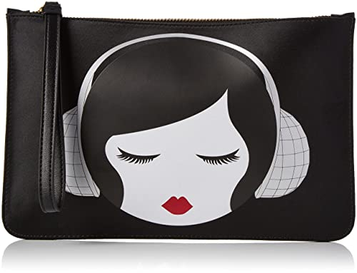 a7dde7e04d777 Lulu Guinness Womens Lulu Disco Doll Grace Purse Black (Black Silver)   Amazon.co.uk  Shoes   Bags