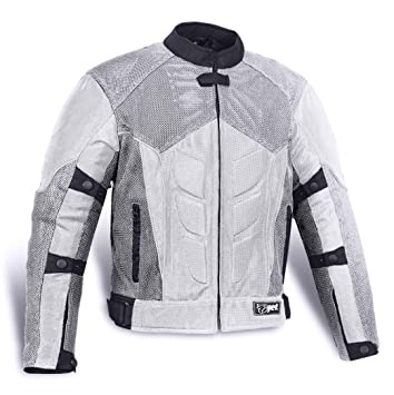 , Black JET Textile Air Mesh Motorcycle Motorbike Summer Jacket CE Armoured 48-50 4XL