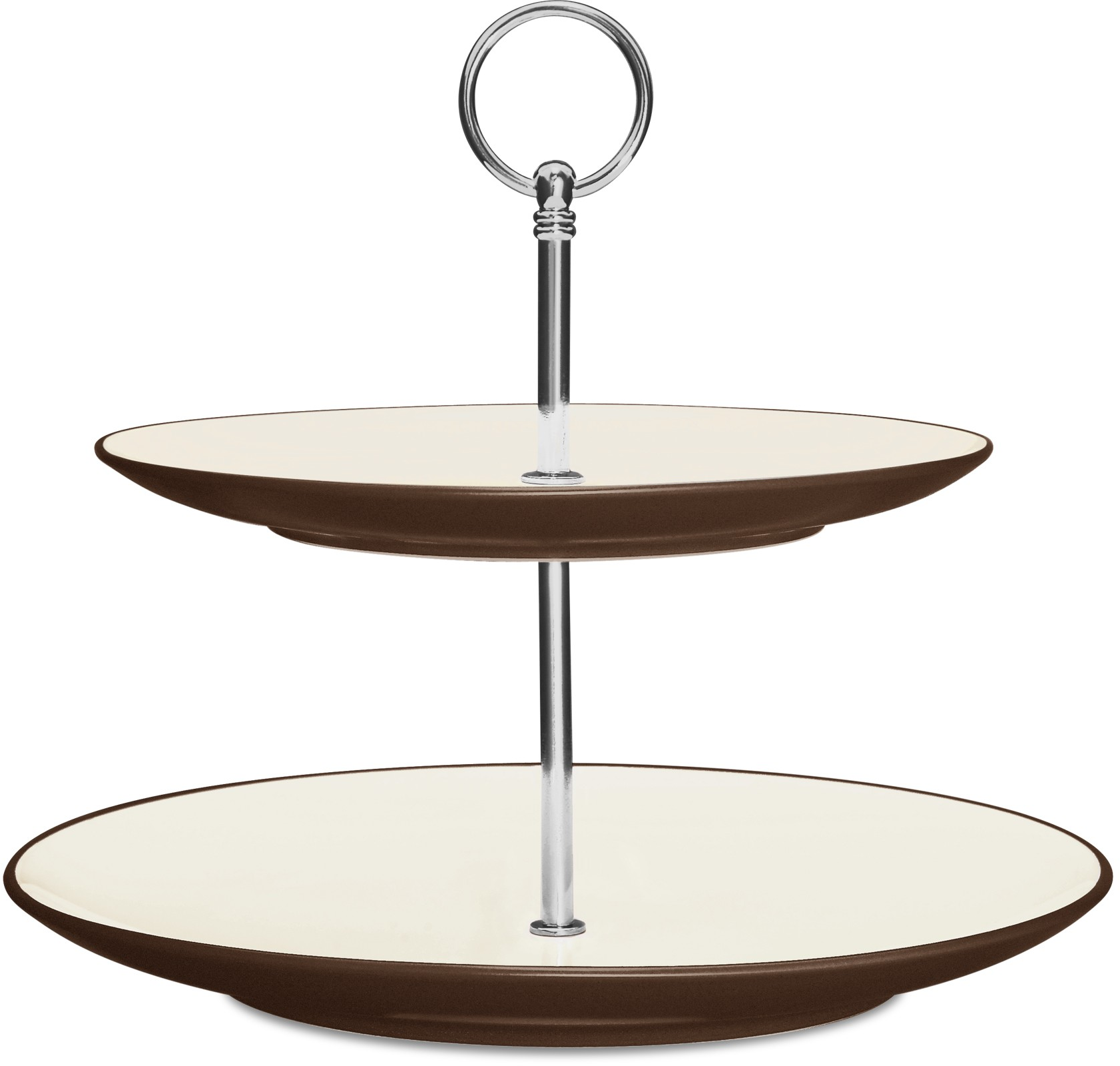 Noritake Colorwave Chocolate Two Tiered Hostess Tray