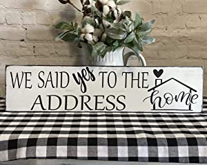 We Said Yes to The Address, House Warming Gift, First Time Home Buyers Gift