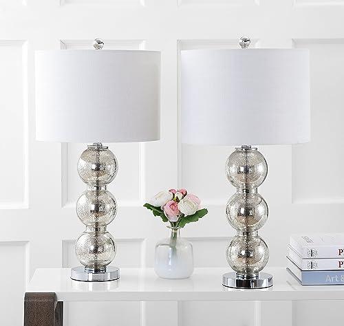 JONATHAN Y JYL1070B-SET2 Bella 27″ Glass Triple-Sphere LED Table Lamp Contemporary,Transitional