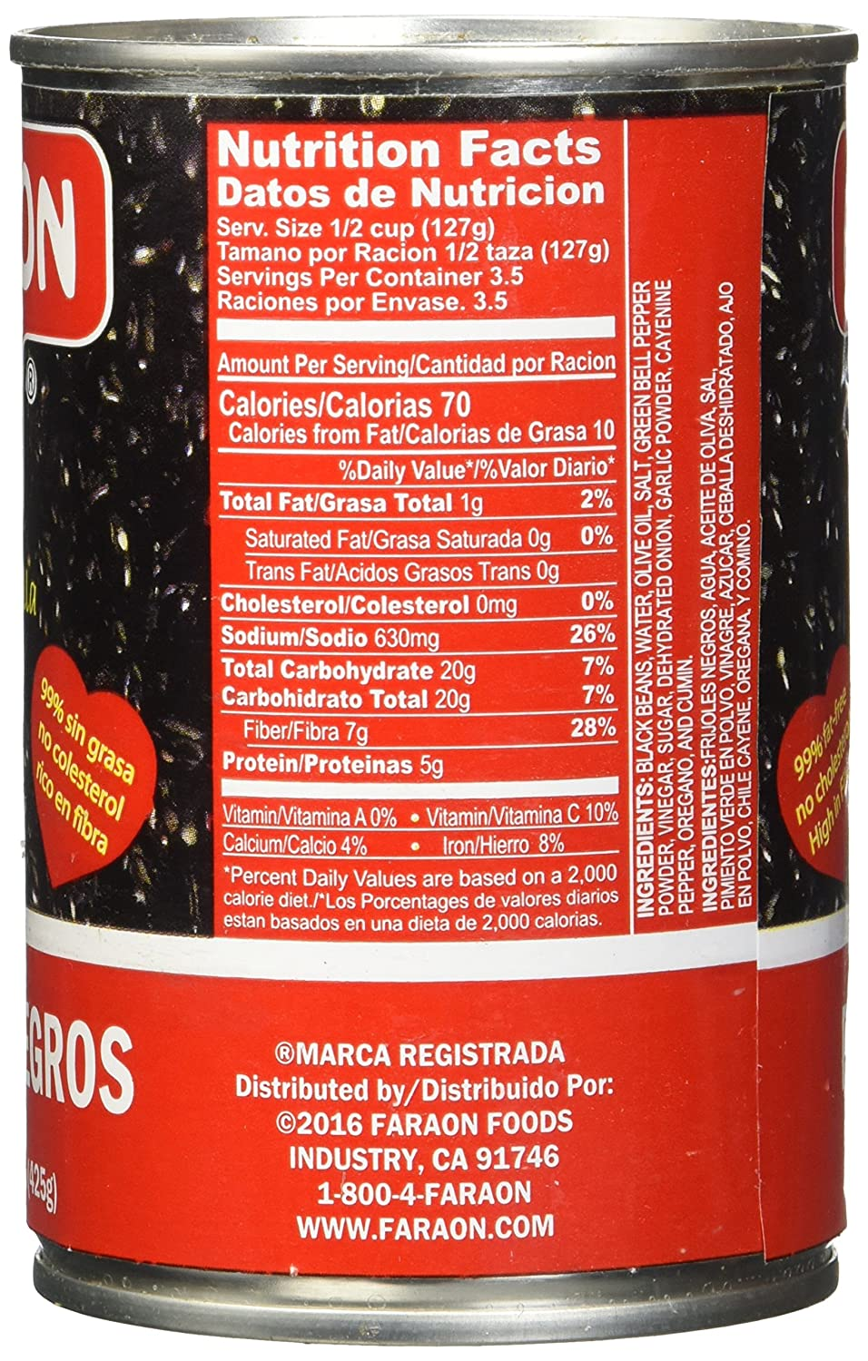 FARAON Blacks Seasoned, 15 Ounce (Pack of 12): Amazon.com: Grocery & Gourmet Food