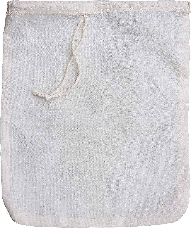 Productos Love Tree Algodón orgánico. Bolsa para leche de nueces - El mejor colador orgánico de leche de almendras con calidad premium que incluye un E book de recetas gratuito - Bolsa de malla de alg