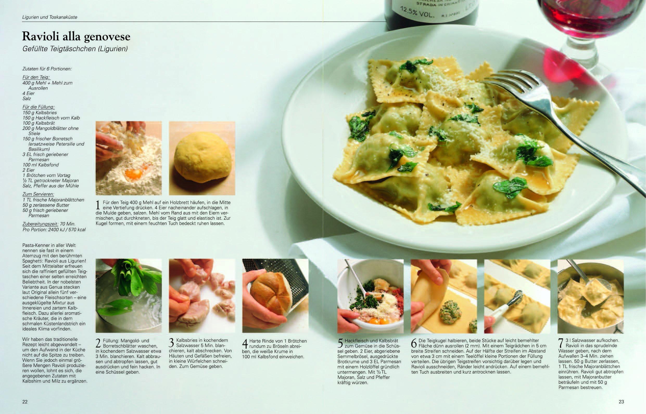 Die echte italienische Küche Typische Rezepte und kulinarische