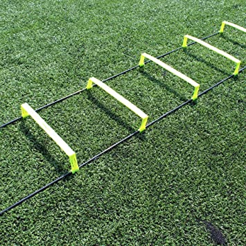 Fitness Health FH Escalera de velocidad elevada para entrenamiento de agilidad, entrenamiento de fútbol, entrenamiento de 6 pulgadas, escalera plana para entrenamiento sin enredos, fácil de colocar.: Amazon.es: Deportes y aire libre