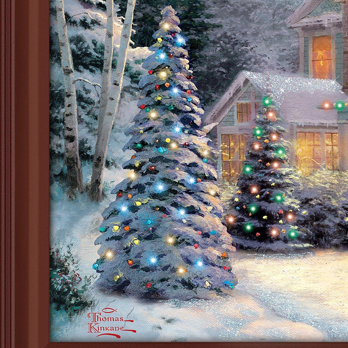 Amazon.com: Thomas Kinkade Victorian Family Christmas Illuminated ...