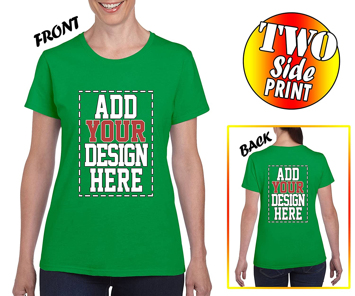 1a8c367ef DESIGN A SHIRT by adding your own photo, picture, image, name or number |  Choose your size and color then click Customize Now button ...