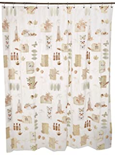 Ex Cell Natures Moments PEVA Shower Curtain 70 By 72 Inch