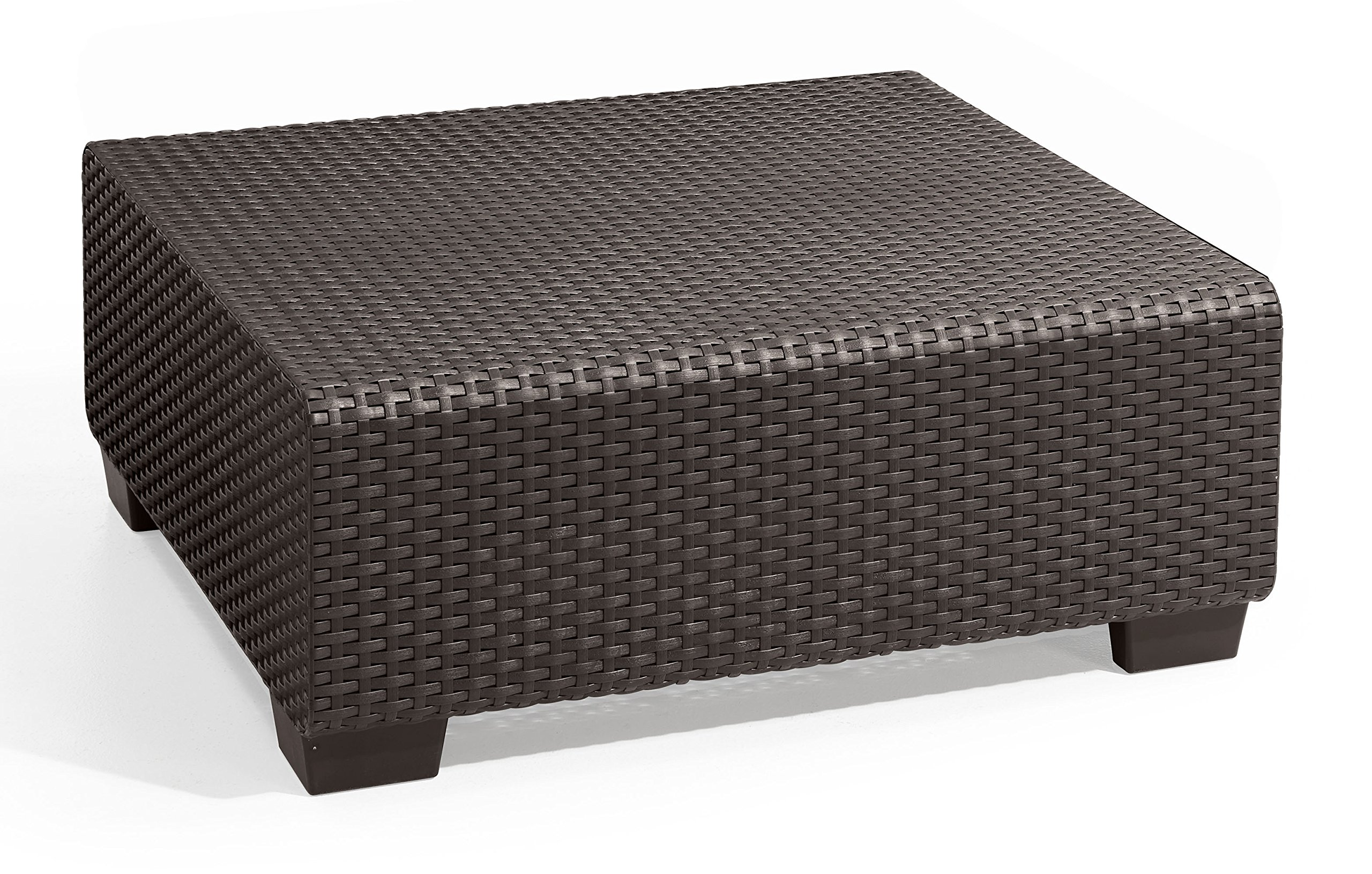 Keter Salta Coffee Table Modern All Weather Outdoor Patio Garden Backyard Furniture, Rich Brown