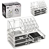 ARIANA© Make Up Organiser Clear 4 Drawer Cosmetic Display Storage Table