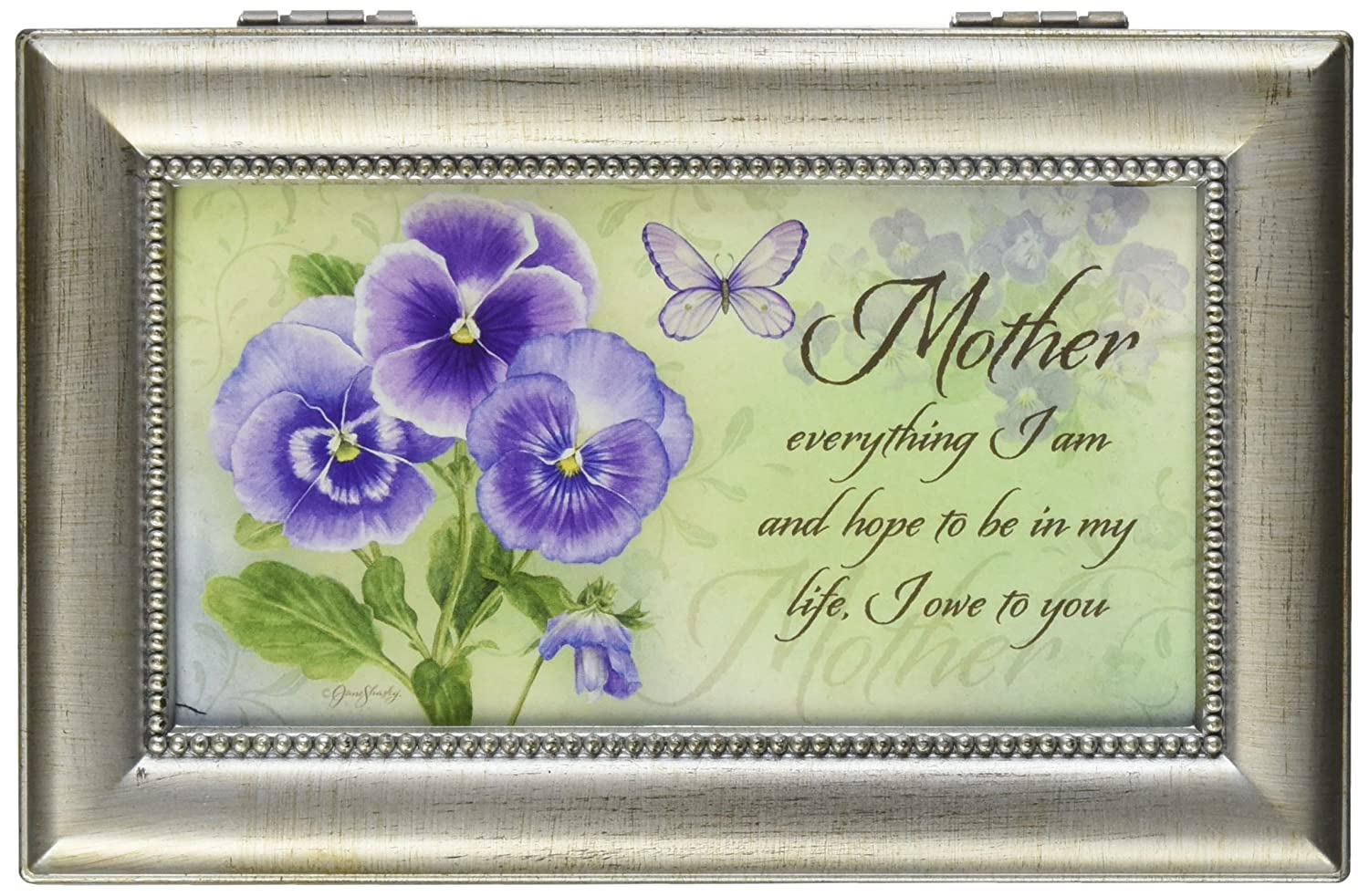 Mother Everything I Am Music Musical Mom Jewelry Box Plays Swan Lake Carson Home Accents 18285