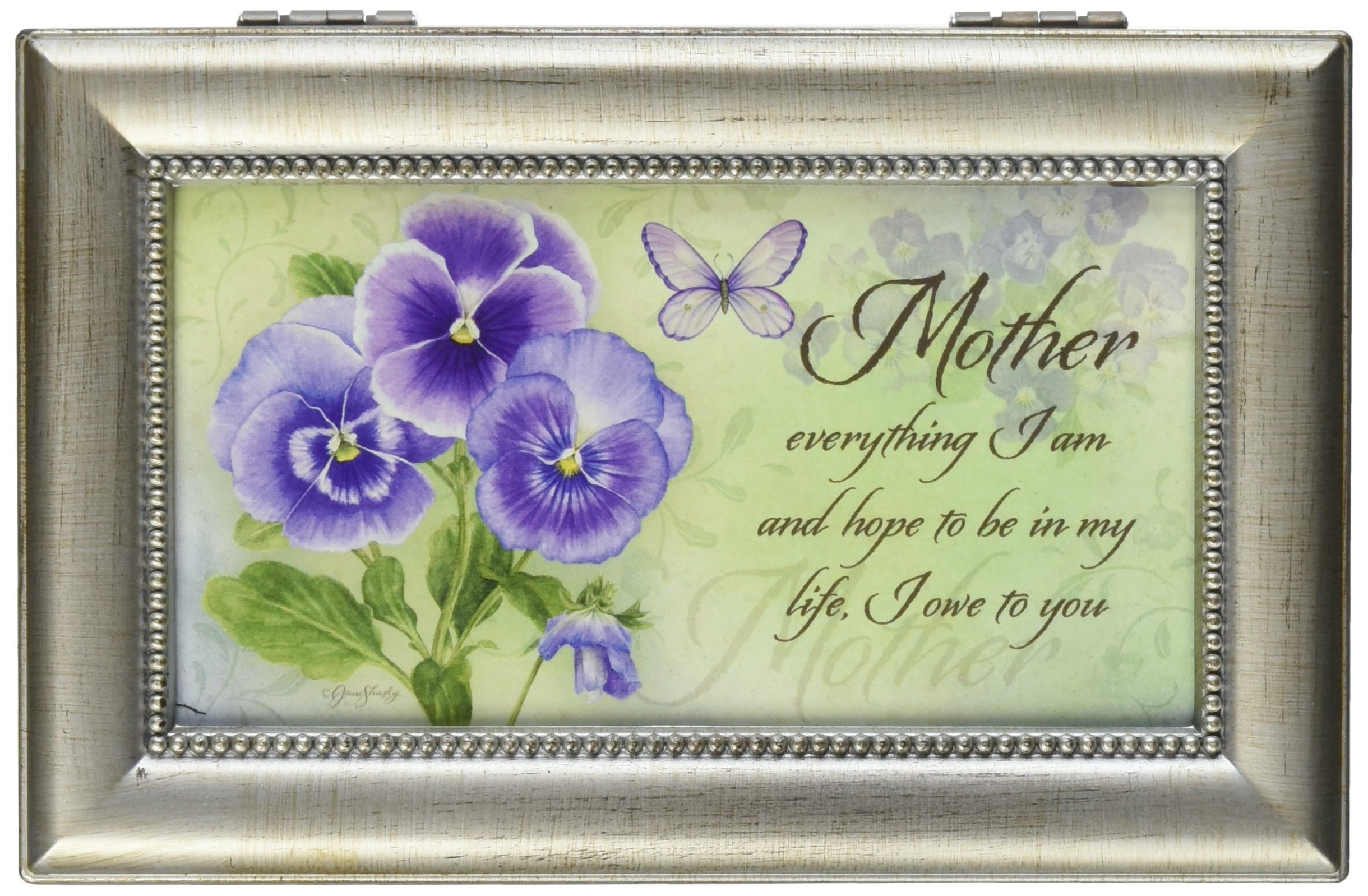 Mother Everything I Am Music Musical Mom Jewelry Box Plays Swan Lake by Carson