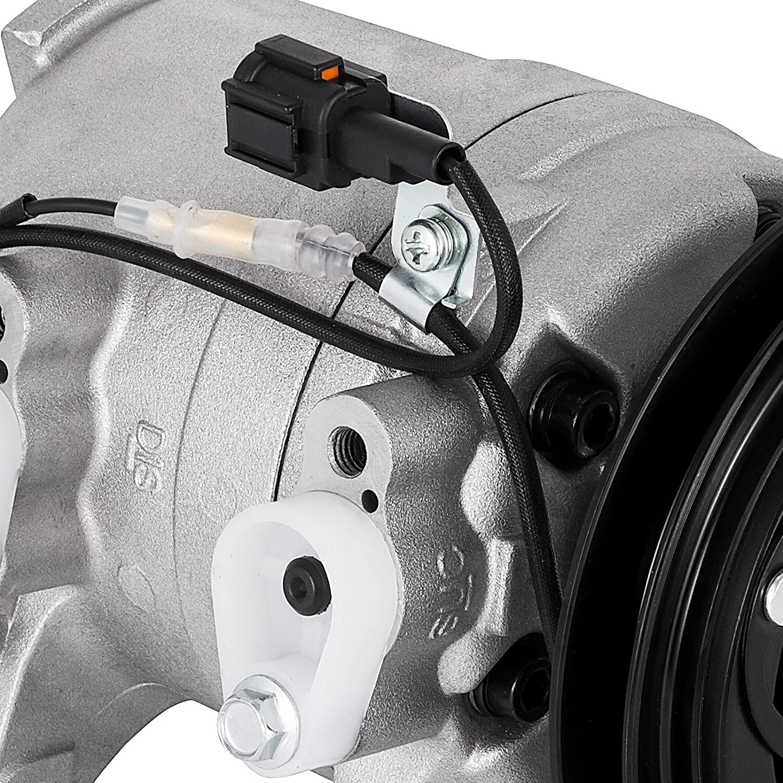 SucceBuy AC Compressor For Nissan Frontier Xterra AC Compressor Clutch 1998-2004 Air Conditioning Compressor 2.4L