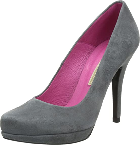 Buffalo London 9669-177 BL Kid Suede 115880 - Zapatos de Vestir de Cuero para Mujer