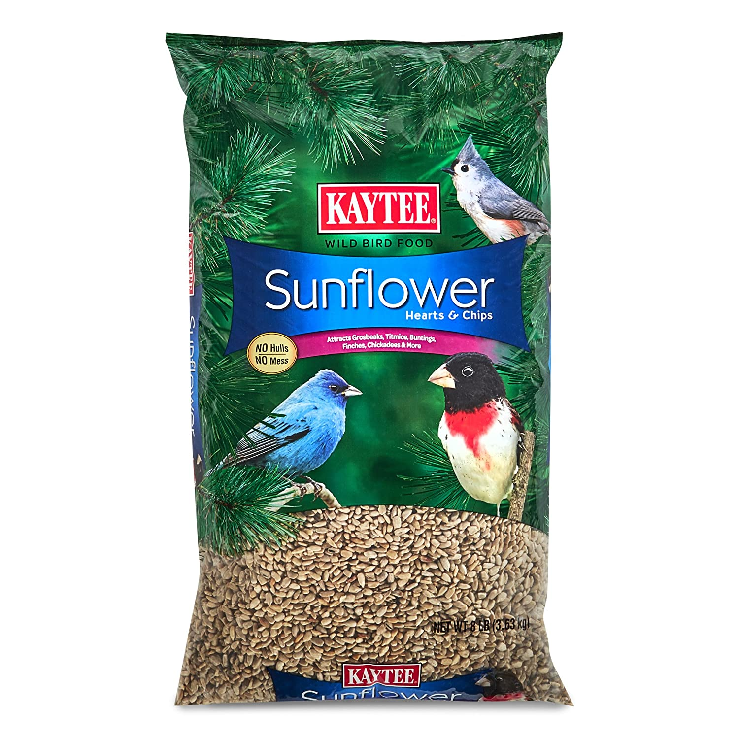 Kaytee Sunflower Hearts and Chips Bird Seed, 8-Pound