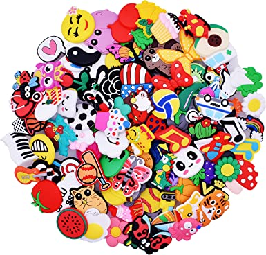 100Pcs Different Random Mixed Shoe Charms Decorations For Wristband Party Gifts