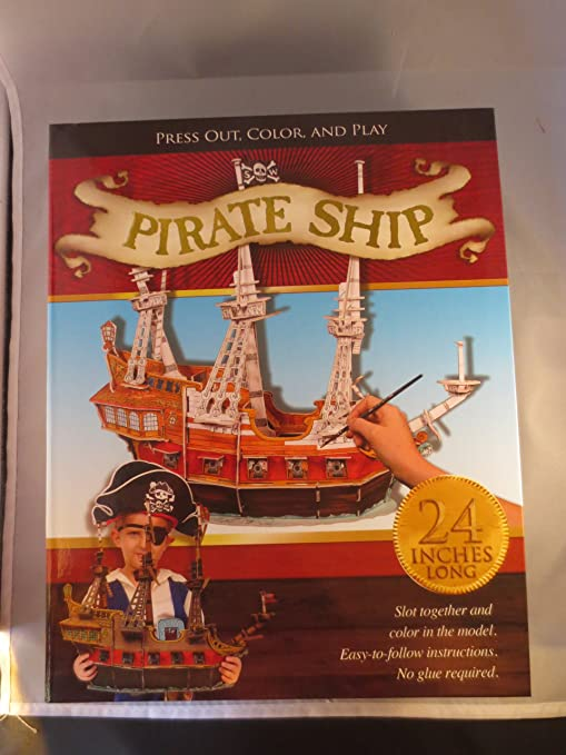 Amazon Pirate Ship Model Press Out Color And Play 24 Long