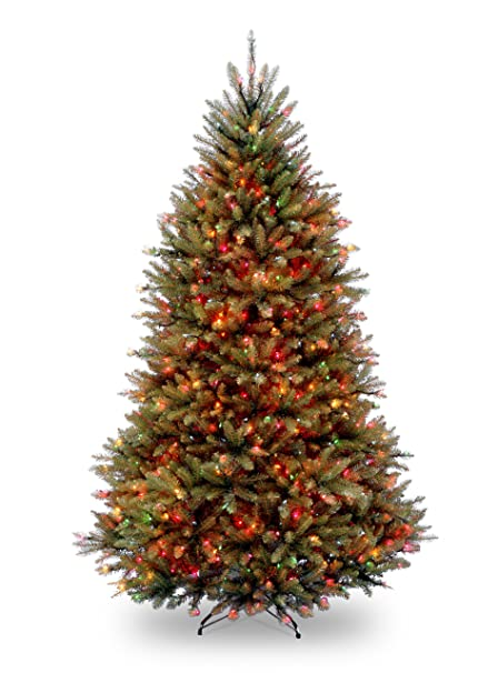 Dunhill Fir Christmas Tree.National Tree 7 5 Foot Dunhill Fir Tree With 750 Multicolor Lights Hinged Duh 75rlo
