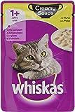 Whiskas Katzen-/Nassfutter Adult 1+ für Erwachsene Katzen Creamy Soups in Gelee, 28 Portionsbeutel (28 x 85 g)