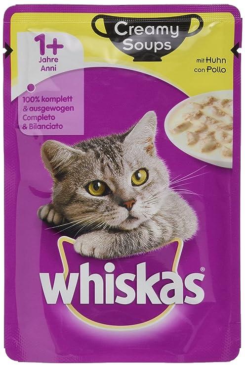 whiskas Creamy Soups 1 + Alimento para Gatos, Pelo Sano, pienso ...