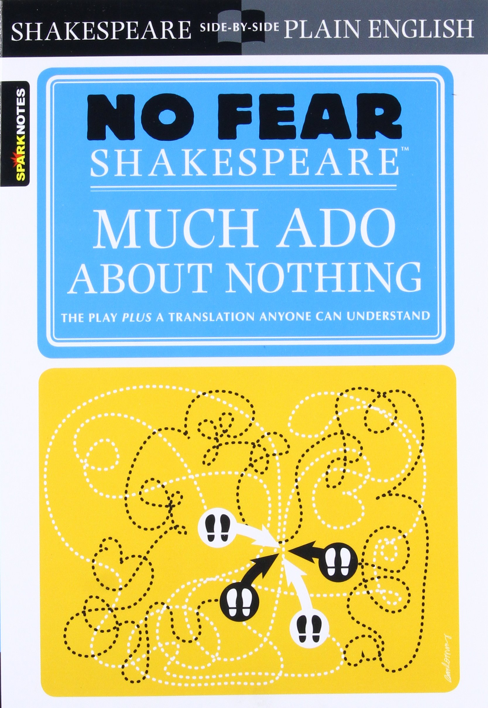 Amazon Com Much Ado About Nothing No Fear Shakespeare Volume 11 9781411401013 Sparknotes Books