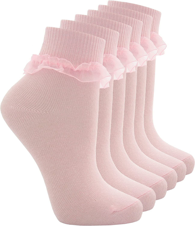 TICK TOCK COTTONIQUE Baby /& Girls Socks Cute Frilly Ruffle Organza Lace School