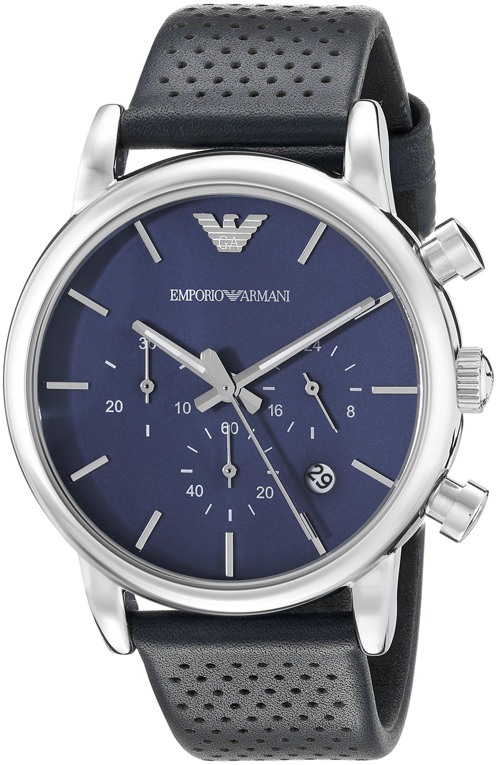 Emporio Armani Men's AR1736 Classic Analog Display Analog Quartz Blue Watch
