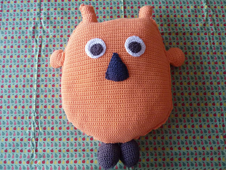Coussin Hibou Orange Au Crochet Amazonfr Handmade