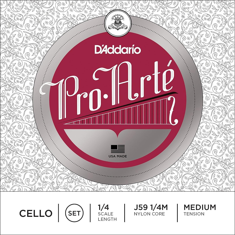D'Addario Pro-Arte Cello String Set, 3/4 Scale, Medium Tension D'Addario &Co. Inc J59 3/4M