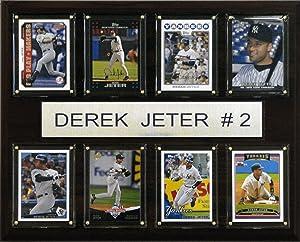 MLB Derek Jeter New York Yankees 8 Card Plaque