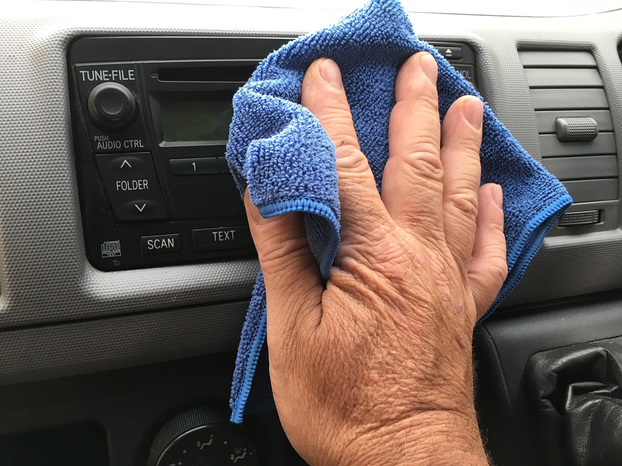 ViroKleen Microfiber Cleaning Cloth 12Qty Cleans with Very Little Effort, Ideal for Cleaning & Dusting your Valuable Goods from Electronics, Glass, IPad, TV Screens, Kitchen, Car, Furniture Polishing by ViroKleen (Image #3)