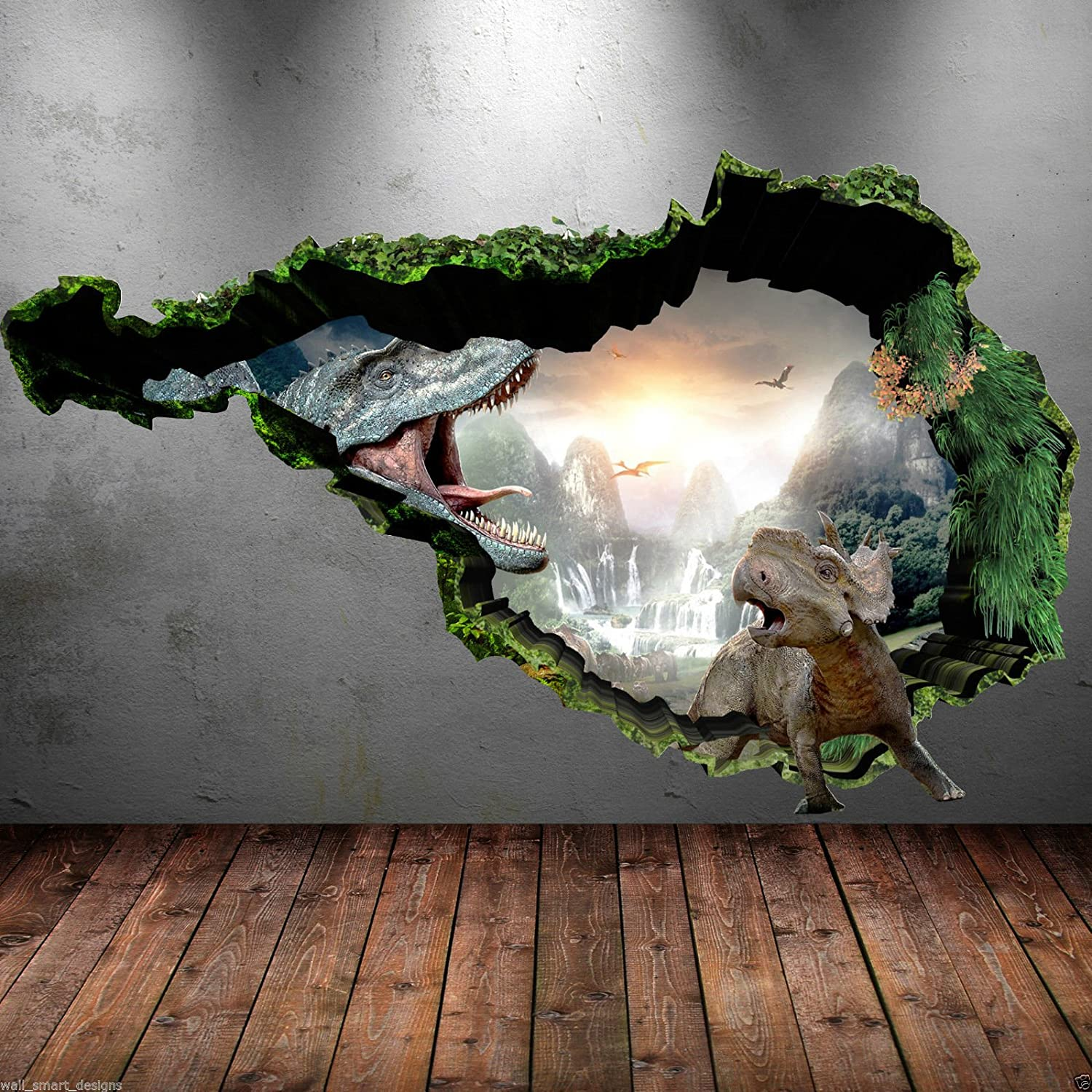 Superb Amazon.com: 3D Dinosaur Full Colour T Rex Wall Art Sticker Boys Decal Mural  Transfer Graphic: Home Improvement Part 32