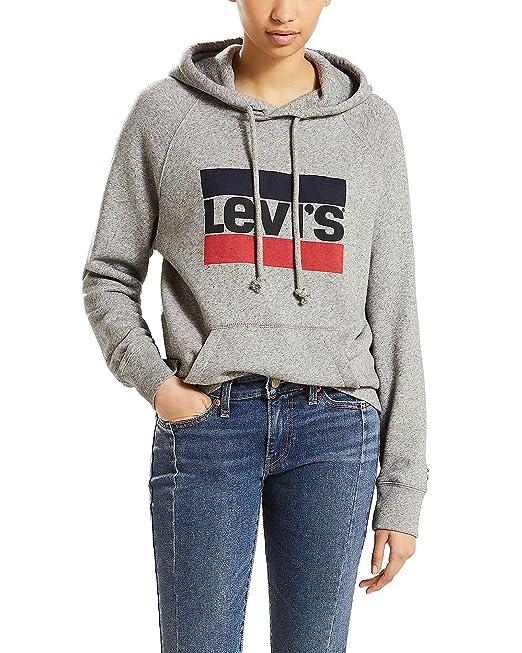 3dc8ef2fa6602 Levi's Women's Graphic Sport Hoodie, Sportswear Hoodie Smokestack Heather,  ...