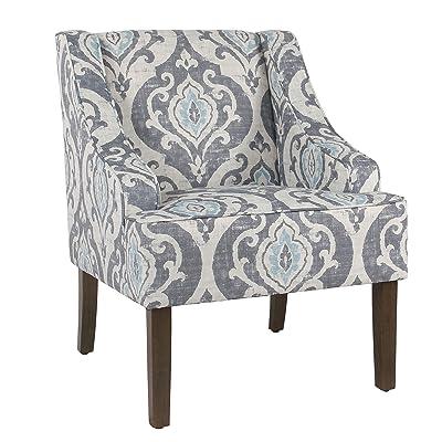 Svitlife Classic Swoop Accent Chair - Suri Blue Rocker Beach Algoma Butterfly Patio