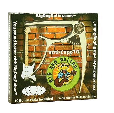 Golden Metal Guitar Capo de 6 cuerdas, se mantiene en Tune, púas para guitarra
