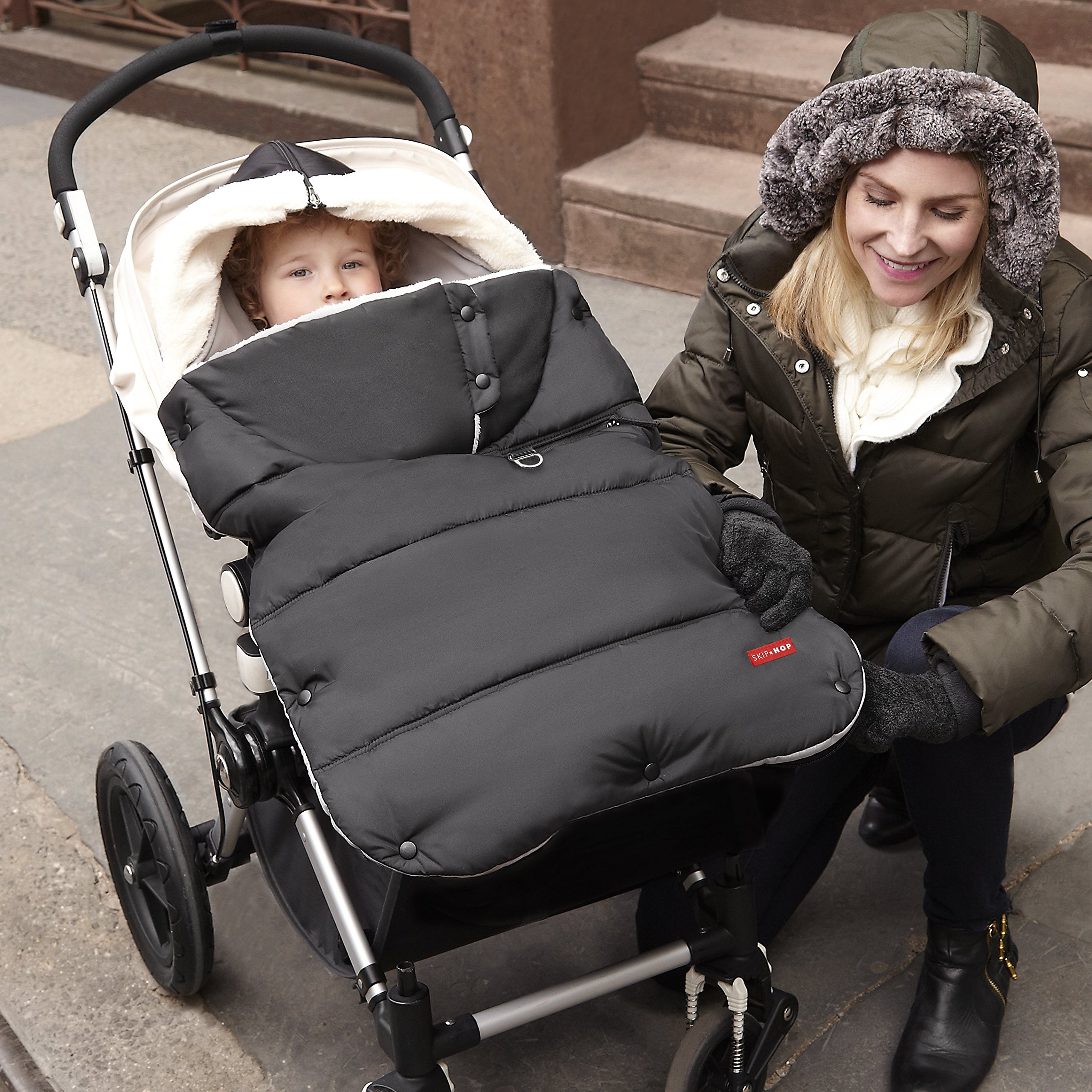 Skip Hop Stroll-and-Go Three-Season Stroller Footmuff, Toddler, Black by Skip Hop (Image #6)