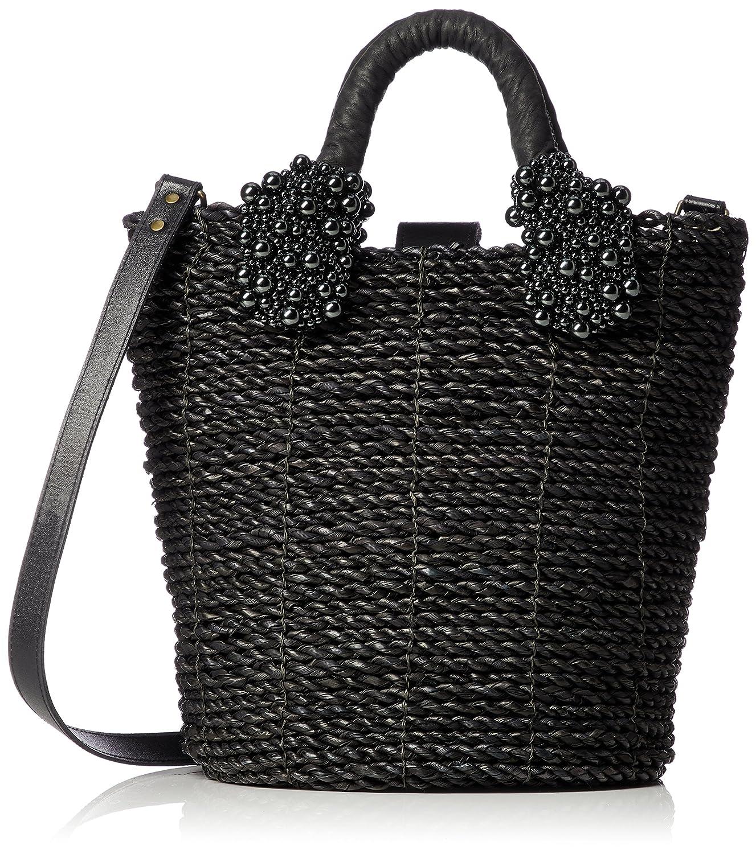 [カルネ] Bucket × Pearl Shoulder Basket CE-1710-300 B079NS97ZMブラック×ブラックパール